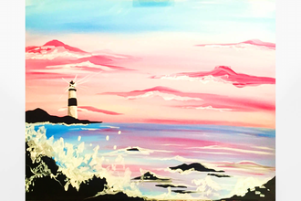 Paint Nite: Pink Sky Lighthouse