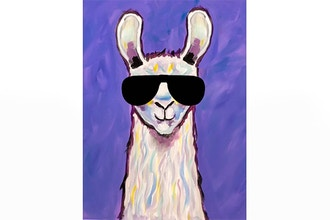 Paint Nite: Playful Llama Sunglasses