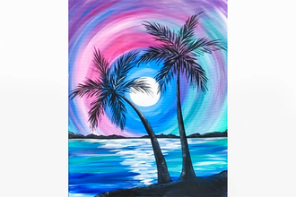 Paint Nite: Rainbow Palm Island