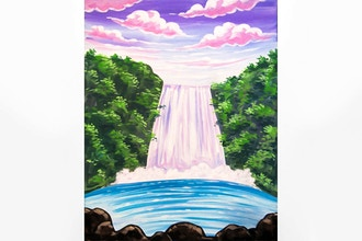 Paint Nite: Serene Waterfall