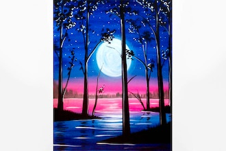 Paint Nite: Starry Moonlight