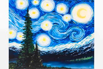 Paint Nite: Starry Mountain Night