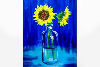 Paint Nite: Sunflower Vase
