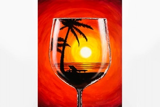 Paint Nite: Sunset Merlot