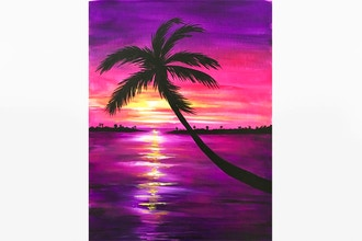 Paint Nite: Sunset in Paradise IV