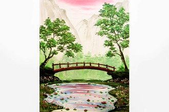 Paint Nite: The Hidden Bridge and Pond