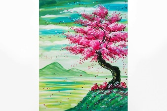 Paint Nite: The Seasoned Cherry Blossom