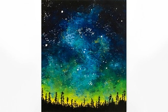 Paint Nite: Woodland Galaxy
