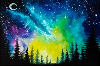 Paint Nite: Moonlit Forest Milky Way