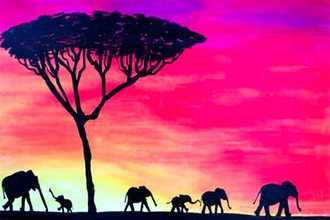Paint Nite: Elephants On Parade