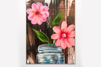 Paint Nite: Barn Door Blossoms