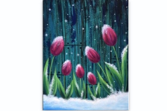 Paint Nite: Frosted Fuchsia Tulips