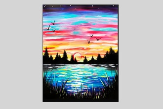 Paint Nite: Pastel Rainbow Lake