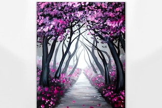 Paint Nite: Path of Cherry Blossoms