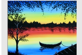 Virtual Paint Nite: Peaceful Lake (Ages 6+)