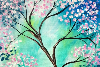 Paint Nite: Peaceful Spring Blossoms
