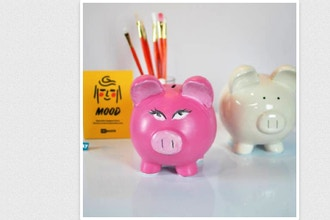 Paint Nite Innovation Labs: Piggy Bank Ceramic I