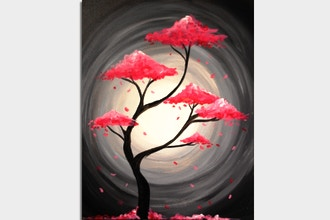 Paint Nite: Pink Tree of Life