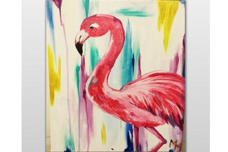 Paint Nite: Pinky the Flamingo