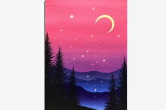 Paint Nite: Purple Mountain Magic