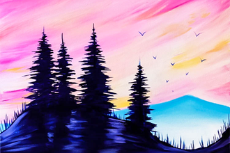 Paint Nite: Purple Pines