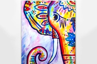 Paint Nite: Rainbow: The Boho Elephant