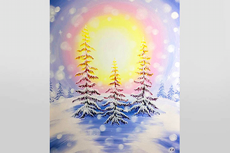 Paint Nite: Radiant Winter Dawn