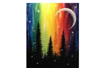Paint Nite: Rainbow Forest Magic