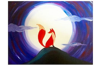 Paint Nite: Red Fox and Moonlight (Ages 6+)