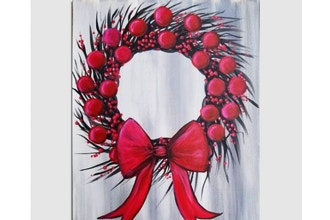 Paint Nite: Red Wreath