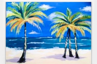 Sandy Beach Palms