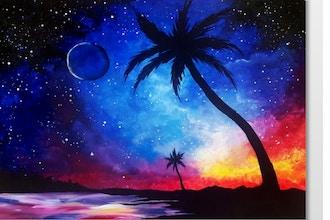 Paint Nite: Galaxy at the Beach