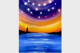 All Ages Paint Nite: Lighthouse by the Sea