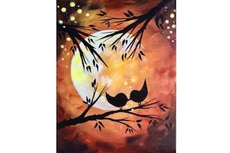 Paint Nite: Fall Moon Magic Kissy Kissy