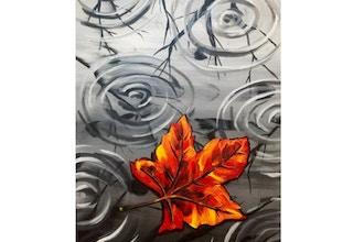 Paint Nite: Rainy Autumn Leaf