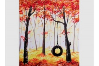 Paint Nite: Secret Autumn Swing