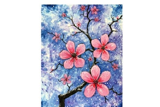 Paint Nite: Snow Dusted Cherry Blossoms