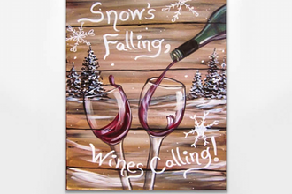 Snow S Falling Wines Calling Painting Classes Nashville Tn