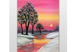 Paint Nite: Snowfall at Amber Creek