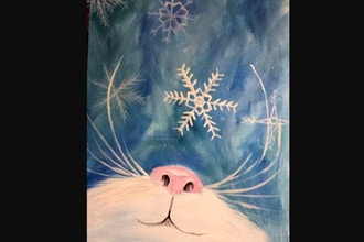 Virtual Paint Nite: Snowflake Kitten (Ages 6+)