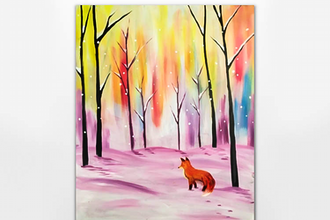 Snowy Fox Forest