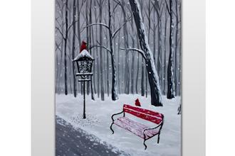 Snowy Winter Cardinals