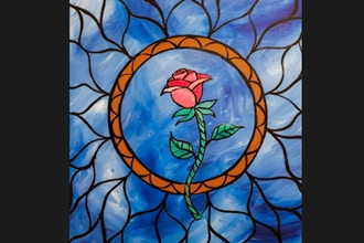 Virtual Paint Nite: Stained Glass Rose III