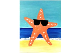 Paint Nite: Starfish Dude (Ages 6+)