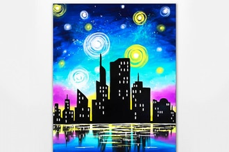 Paint Nite: Starry Lake Skyline