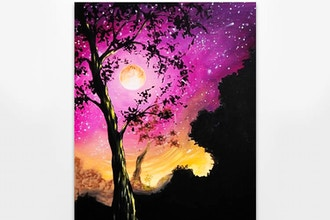 Paint Nite: Starry Moonlit Tree