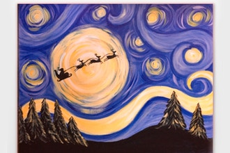 Starry Night Santa