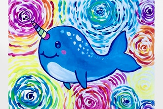All Ages Paint Nite: Starry Rainbow Narwhal