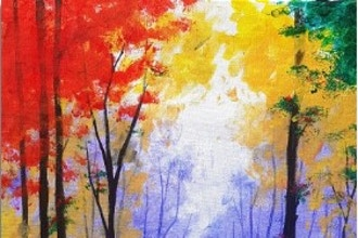 Paint Nite: Strolling Through Autumn II