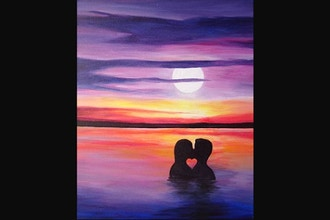 Virtual Paint Nite: Swimming in Romance (Ages 21+)